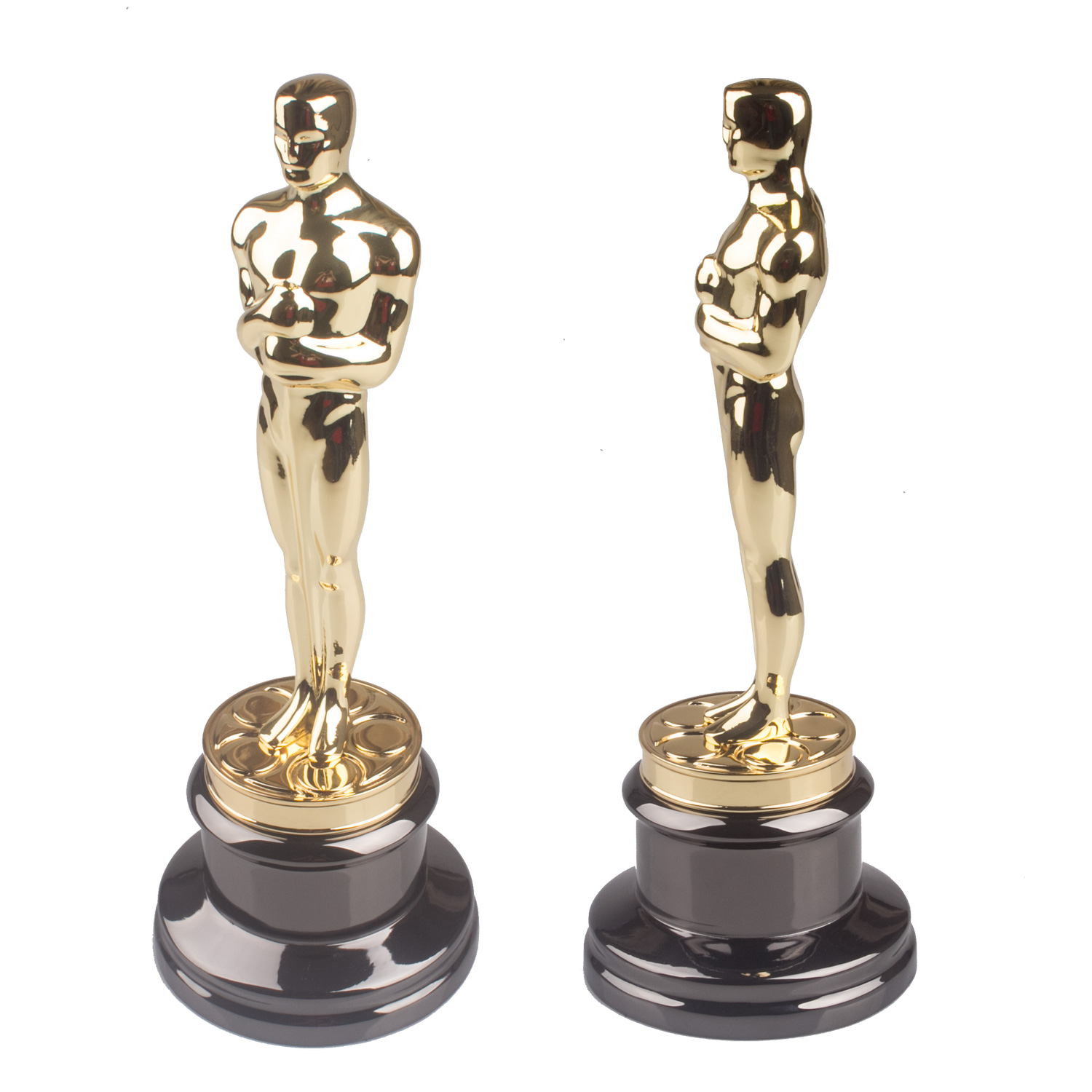 34CM  Original Size Oscar Statuette Trophy Award Metal Scale Replica  Music TV Movie Fans Souvenirs