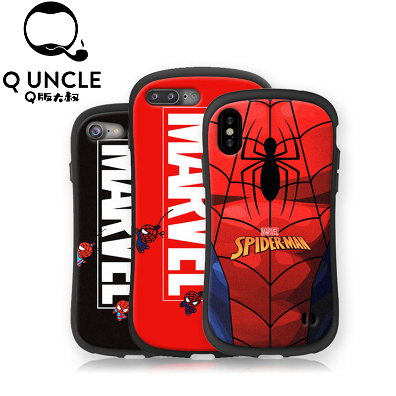 Q UNCLE Spiderman Phone Case For iPhone X 8 7 Plus TPU Carto
