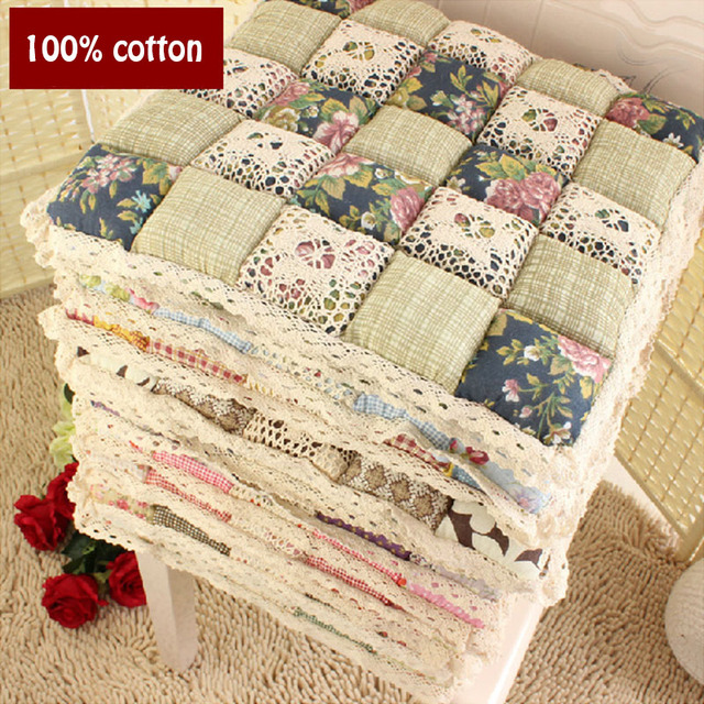 100 Cotton Autumn And Thin Section Deals Quilted Chair Dining Cushion Pad Office Stool