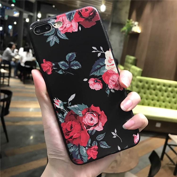Pink White Rose Flower Silicone Ամբողջ մարմնի - Բջջային հեռախոսի պարագաներ և պահեստամասեր - Լուսանկար 3