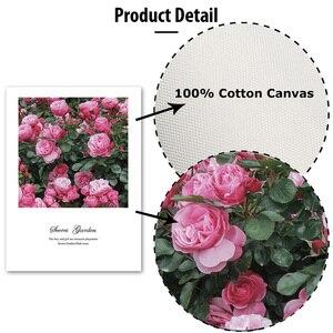 Image 5 - Северные цветы плакаты печать розовые розы холст картина на стене любовь художественная работа с цитатами картинки для гостиной украшение дома