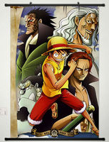 Home Decor Anime One Piece Wall Scroll Poster Fabric Painting Monkey Luffy 126
