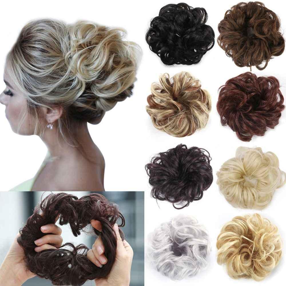 Женская диадема, Кудрявые Волнистые волосы, булочка для наращивания, эластичная резинка для волос, парик, резинки для волос, модные резинки для волос
