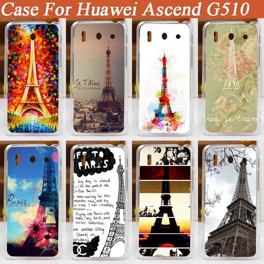 HOT ! For Huawei Ascend G510 g510 Various Patterns Case Animal Tower Flower Stylish cover Phone Brilliant case For Huawei G510
