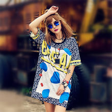 just.be.never blue long women blue T shirt graphic tees letter printed bang me woder women plus tops 80's harajuku punk tshirt(China)