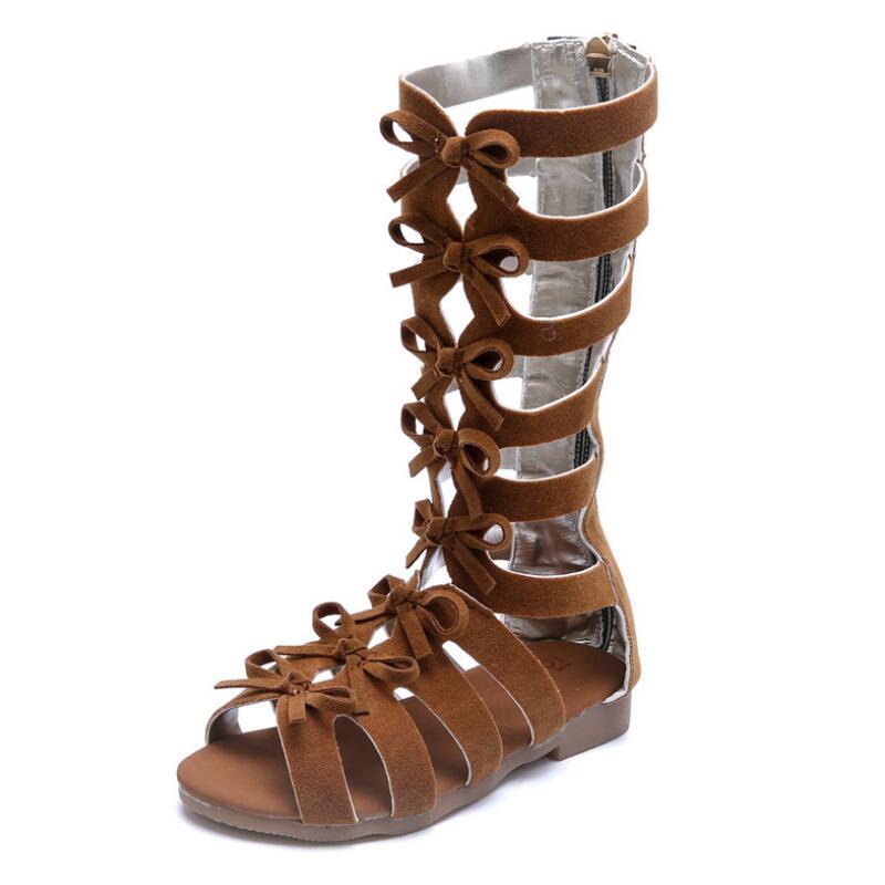 SKHEK 2019 Summer Baby Girl Fashion Gladiator Sandals Princess Toddler Flat Shoes Infant Children Soft Sole Beach Sandal 2017F in Sandals from Mother Kids