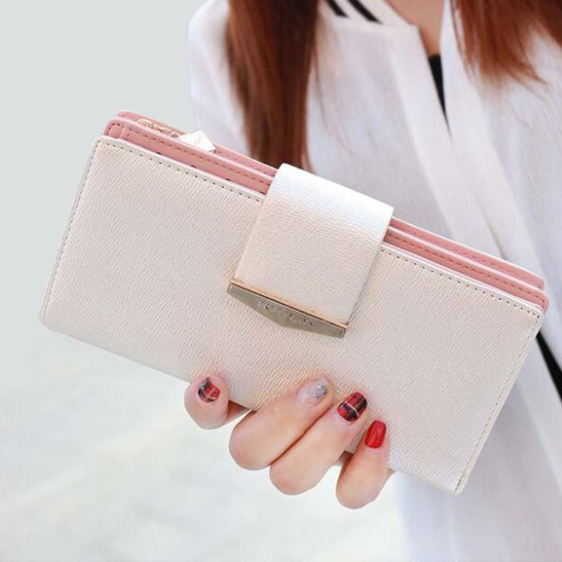 Women Purse Long Wallet Pu Leather Women Wallet Female Card Holder Large Capacity Clutch Bag Brand Design Wallet Fashion women wallet long zipper wallet high capacity crocodile grain female card package fashion hand bag change purse