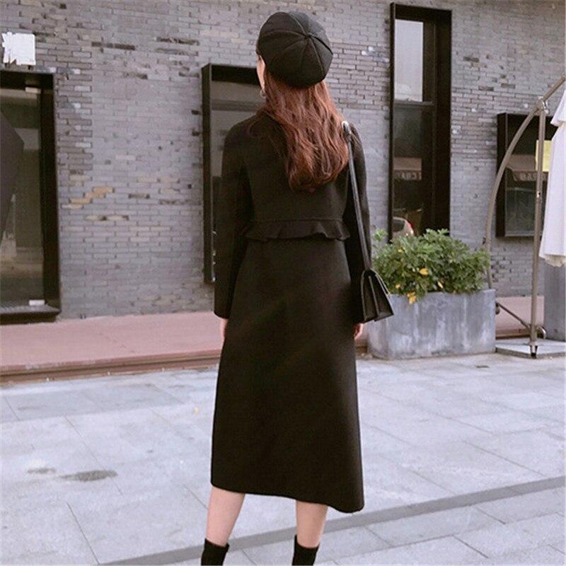 Face Double En Laine De Survêtement Yy005 Femme Volants Manteau Nouveau Lâche black Hiver Femmes Automne Tartan Cachemire À 2019 Apricot Parka xt6nXqfIww