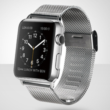 все цены на Milanese Loop Stainless Steel Band for Apple Watch Series 1/2/3/4 42mm 38mm Bracelet Strap for Iwatch Series 4 40mm 44mm онлайн