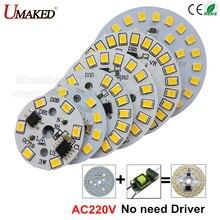 10 шт. ac 220v светодиодный pcb SMD2835 3w 5w 7w 9w 12w 15w интегрированный ic драйвер, светодиодный бусины умная ИС(интеграционная схема поверхностного монтажа, светодиодный светильник источник светодиодный лампы