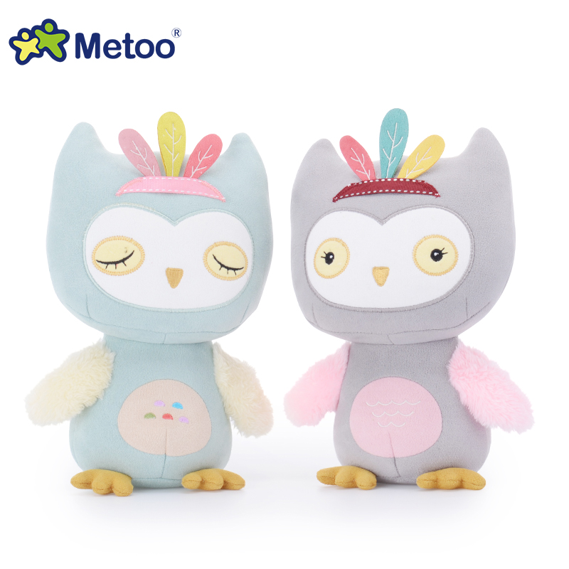 Kawaii Metoo plush kids Kawaii Metoo owl toys stuffed dolls high quality baby toys for children girls Christmas gifts 20 cm little cute flocking doll toys kawaii mini cats decoration toys for girls little exquisite dolls best christmas gifts for girls