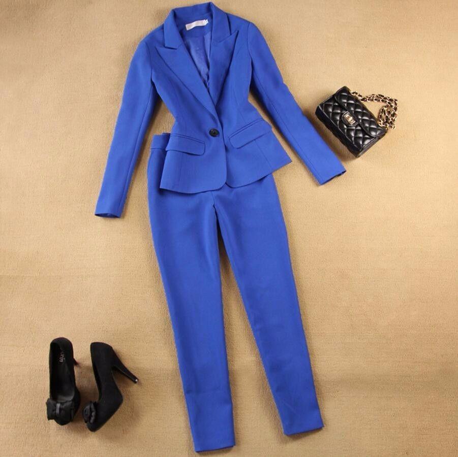 Bouton Mujer Pièce Nouveauté Pantalones Complet Spéciale Définit Offre 2017women's Costume Un Plein Nouvelle Blazer Ensemble Veste 2 xpzB7qX