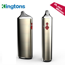 Original Kingtons Dry Herb Vaporizer Electronic Cigarette Black Window Vape E Cigarette 18650 Rechargeable Battery e