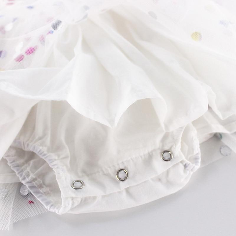 Image 4 - Wholesale 2019 Summer New Baby Girl Princess Dress Glitter  Colorful Polka Dot Guze Dress Overalls Kids Clothing E81016Dresses   -