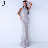Missord 2018 Sexy Summer O Neck Sleeveless Sequins Evening Elegant Party Dresses FT9360