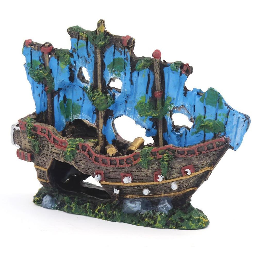 1 Pc Harz Aquarium Aquarium Landschaft Simulation Waschbecken Boot Schiff Unterwasser Aquarium Dekoration Aquarium Ornament Zubehör BerüHmt FüR AusgewäHlte Materialien, Neuartige Designs, Herrliche Farben Und Exquisite Verarbeitung