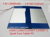 Free Shipping 7 4V 13000mAh Original Li Ion Battery For Cube U30GT U30GT2 U30GT 1 U30GT