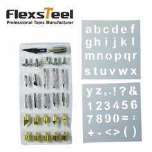 Flexsteel 28pcs Wood Burning Welding Tips Set Wood Pyrography Tool Stencils Nozzle Kit for Hobby Craft Soldering Accessories 1 set pyrography wood working and soldering tips alphabet numbers symbols stencils tool parts accesspries supplies
