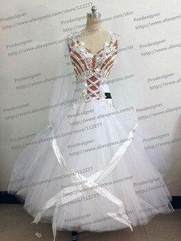Standard Dance Dress,Waltz Competition Dress,Women,social Dance Dress,white color S M L LL