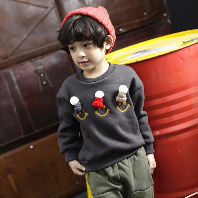 Crianças Meninos Inverno Quente Sweatershirt Crianças Meninos e Meninas Roupa Do Natal Do Bebê Meninas Dos Desenhos Animados Quente Suéter Grosso