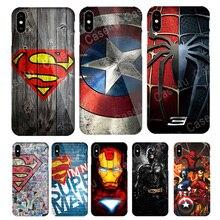 Чехол Marvel, Мстители, Супермен, чехол для iPhone X, 5S, 6, 6 S, 7, 8 Plus, паук Бэтмэн, Капитан Америка, чехол для телефона для iPhone 10