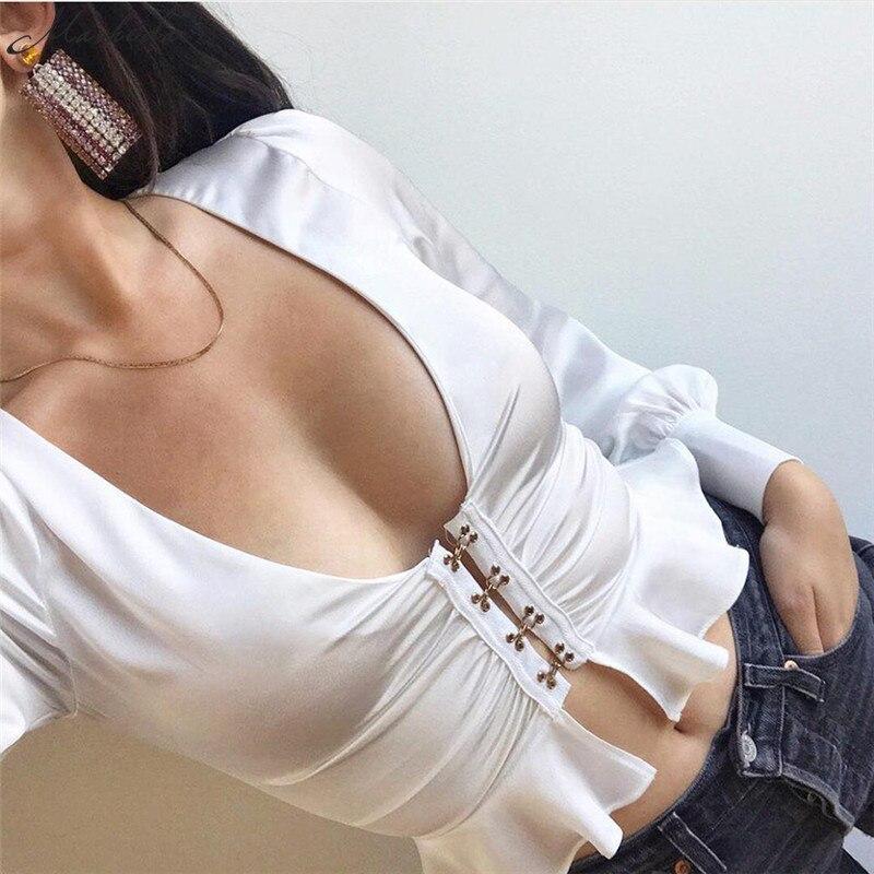Women's Clothing Dependable 2019 Summer New Sling V-neck Mesh Backless Sexy Vest Shirt Street Fashion Harajuku Hollow Sleeveless Ladies Sling Shirt