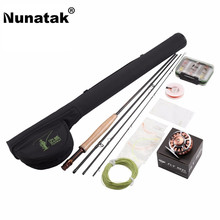 Discount! Nunatak  Fly Rods Combo Maxway Honor 3/4# 2.4M Fly Fishing Rod+Reel+Rod Bag+24pcs Box Lure  Tackle Set For Trout Fishing