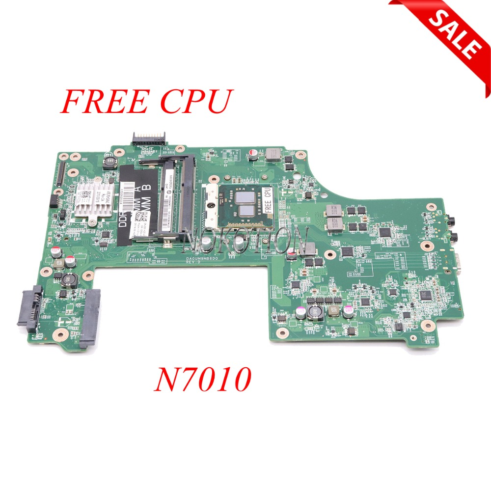 NOKOTION laptop motherboard for dell inspiron N7010 main board DDR3 0GKH2C CN-0GKH2C GKH2C DA0UM9MB6D0 full tested nokotion laptop motherboard for dell inspiron 1120 series main board 0c9ct8 nlm01 la 6132p ddr3