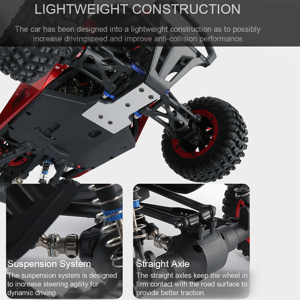 JJRC JJRC Q46 112 2.4G RC Car 4WD 45kmh High Speed Rock Crawler Desert Buggy Cars RTR for Kids Children Gifts RC Toys (19)