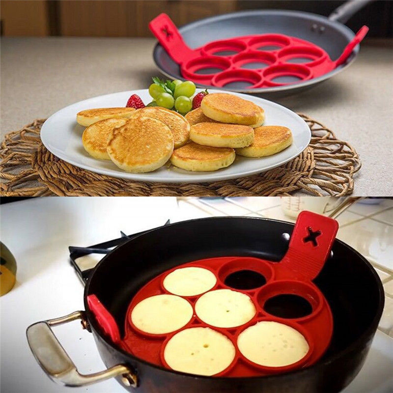 Nonstick Pancake Maker Egg Ring Maker Perfect Pancakes Easy Silicone Egg Pancake Mold Egg Tools
