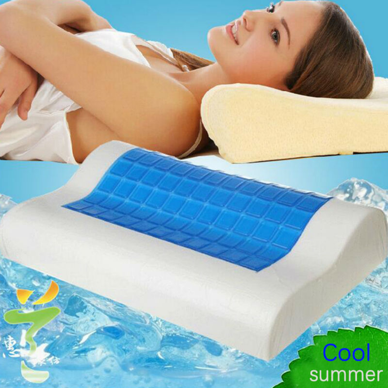 Contour Memory Foam Pillow With Cooling Gel And Removable