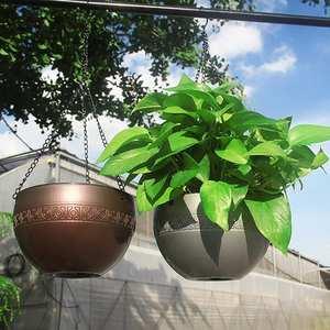 Flower Pots Hanging Water Absorbing Plastic Baskets Garden