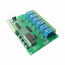 Six-way programmable relay module / microcontroller development Delay self-lock jog interlock switch in turn