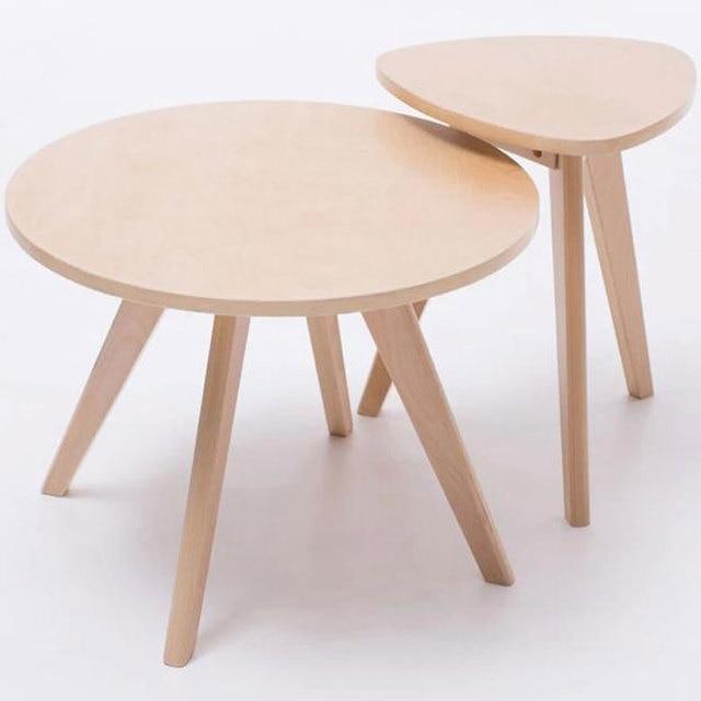 60cm circular table,100% wood tea table,Leisure coffee table,Dining ...
