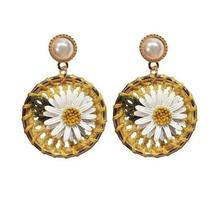 Neatear 2019 Fashion Weave Holiday Flower Party Womens Earrings