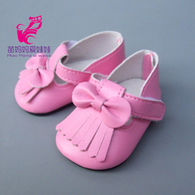 American Girl Doll Shoes Fits 18 Inch Doll Pu Leather pink Doll Shoes for 45CM Baby born Doll