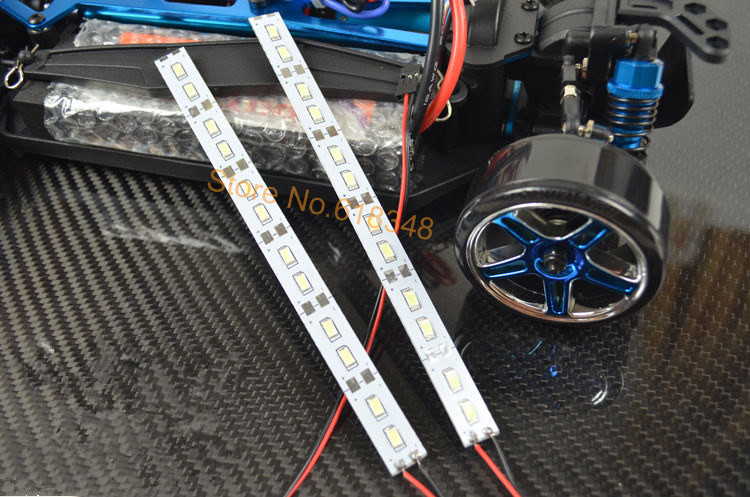 24 LED Dash Lights Underbody Under Chassis Strips Lys System For 1/10 1/8 RC Car Body Shell HSP HPI Sakura Drift