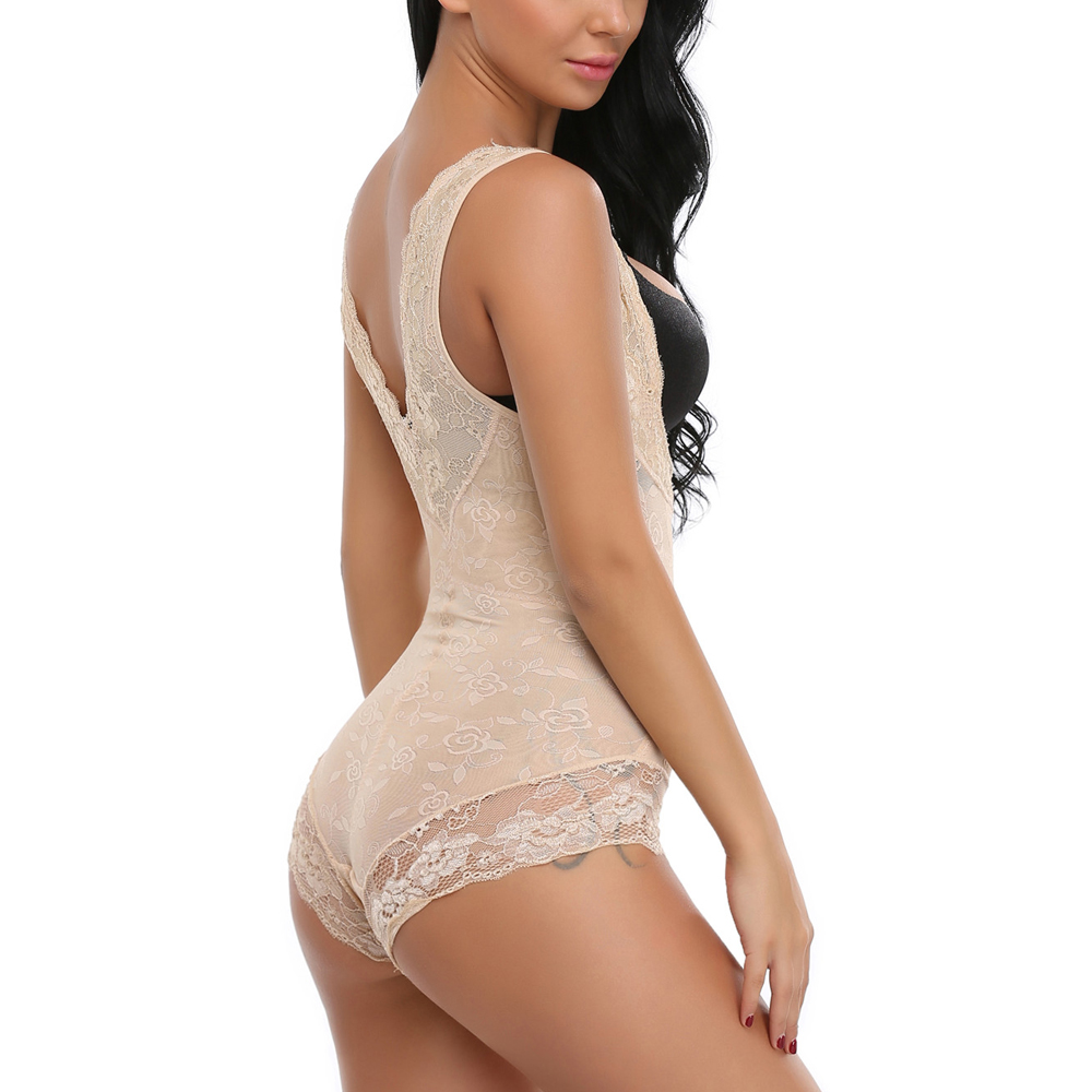425322fd00 Miss Moly Lace Full Body Shaper Tummy Control Bodysuit Waist Cincher  Underbust Shapewear Slimming Trainer Panties Gridle Corset