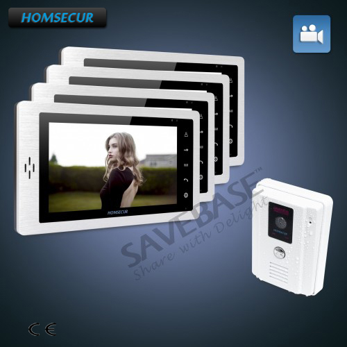 HOMSECUR 7 Hands-free Color Video Door Phone Intercom System + Sensor-Controlled IR Lights for Quality Night Vision