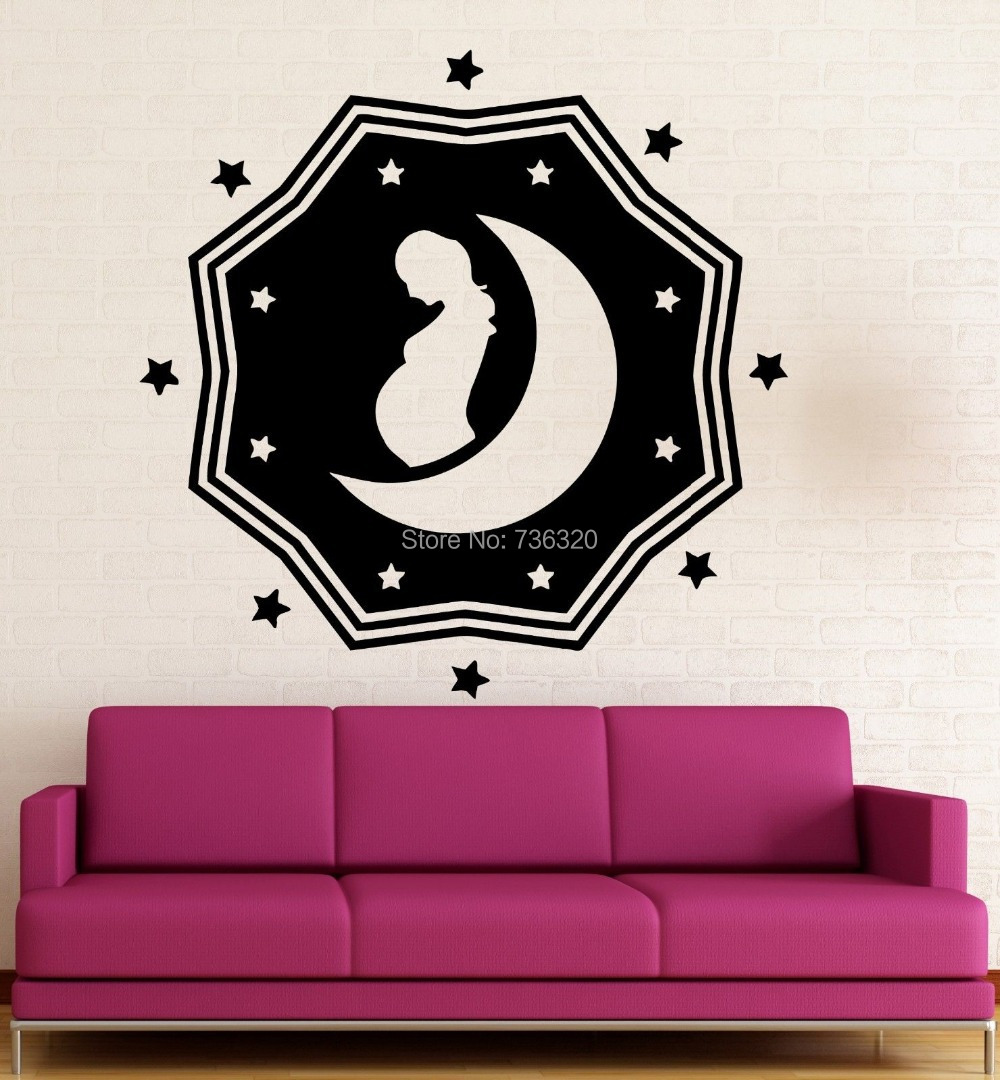 Hospital Wall Stickers Wall Stickers Stork Baby Pregnancy Maternity Hospital Vinyl Decal Art Wall Decor Wall Sticker For Room