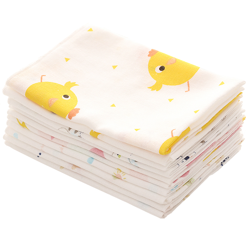 Cartoon Cotton Gaze Towels Soft Baby Towel Handkerchief For Infant Kid Children Feeding Bathing Face Washing 25*25cm AD0443