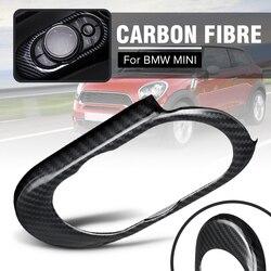 Automatyczne sterowanie Panel konsoli dla BMW dla MINI Cooper S F55 F56 F57 Auto wnętrze odlewnictwo naklejki z włókna węglowego panel pokrywa w Naklejki samochodowe od Samochody i motocykle na