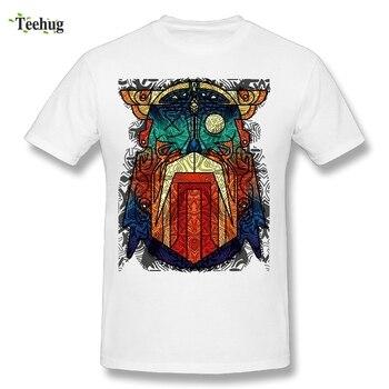1405e7c7 Классные мужские Odin Wodan геометрические Викинги Футболка летняя уличная  Мужская брендовая футболка стильные мужские футболки Camiseta