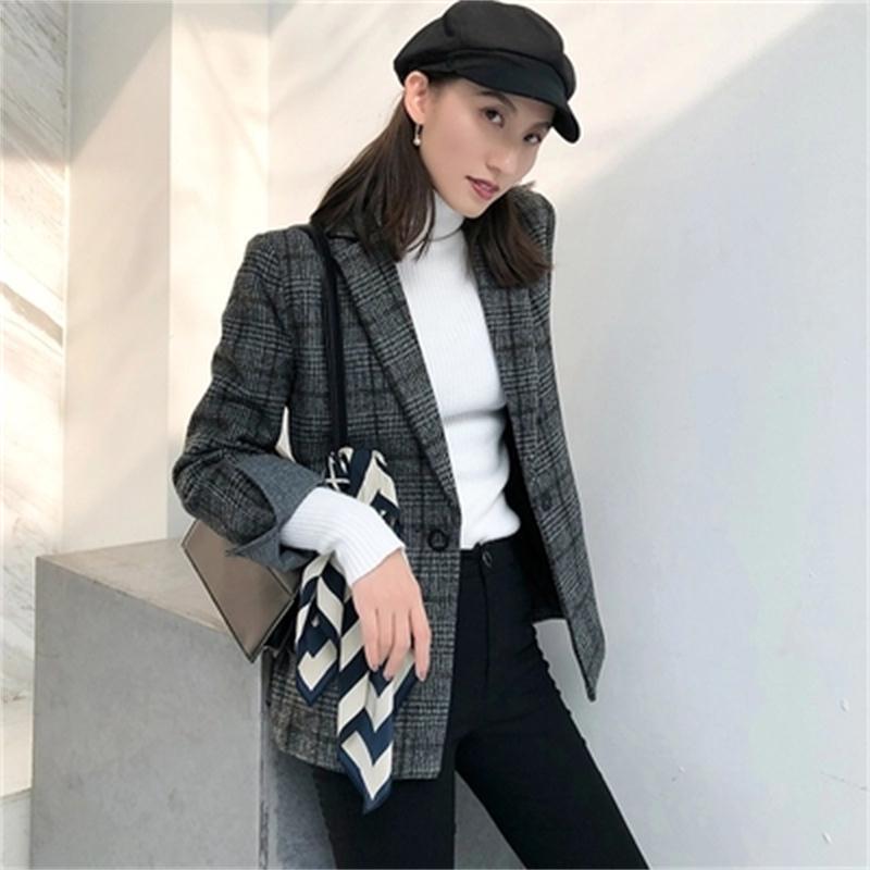 watch dc87b 5f103 Nouveau-Ms-Plaid-Blazers-femme-veste-d-hiver-Mode-vintage-plaid-de -laine-petit-costume-de.jpg