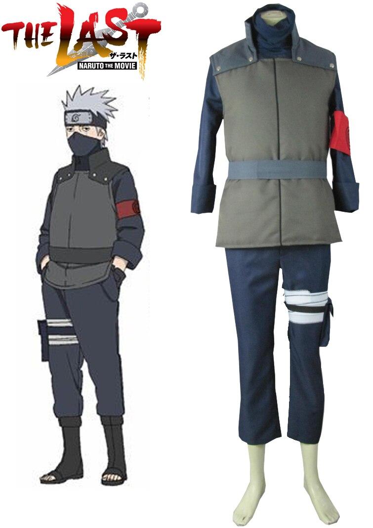 Anime Naruto Hatake Kakashi Cosplay Costume Leaf Village Konoha Jounin  Shippuden Ninja Vest Warmth Daily Clothing