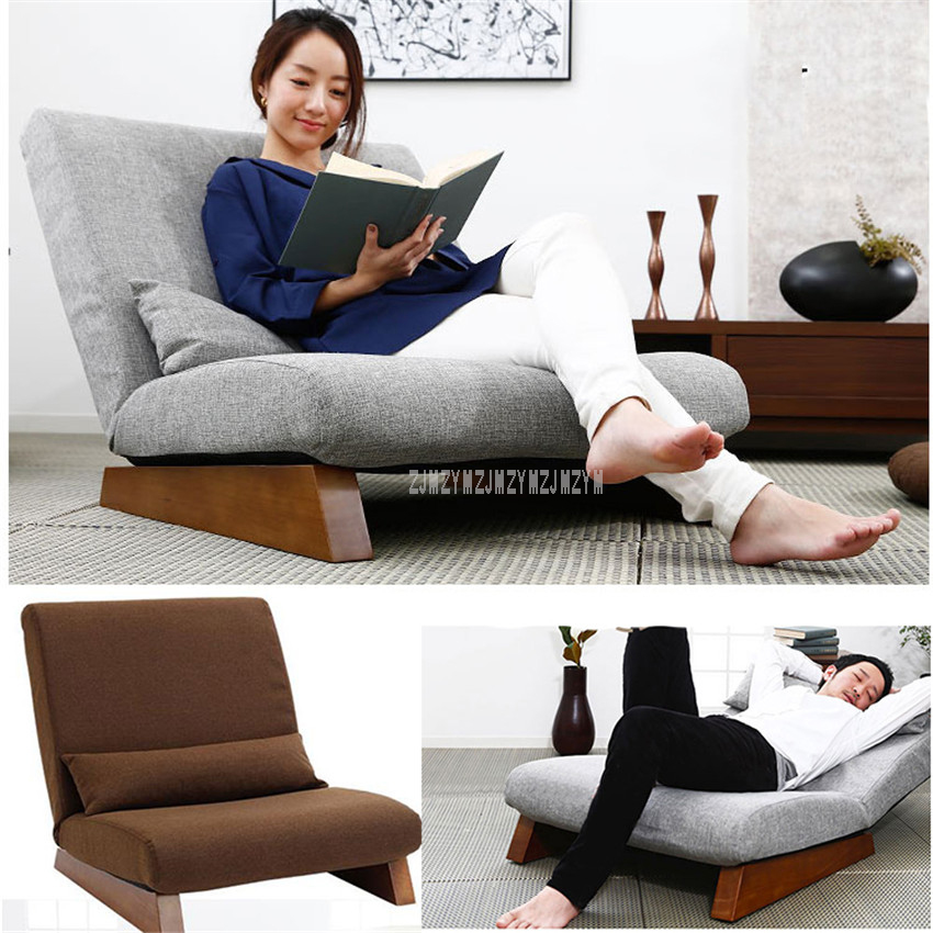 floor folding single seat sofa bed modern fabric japanese living rh aliexpress com Single Chair Bed Single Pull Out Sofa Bed