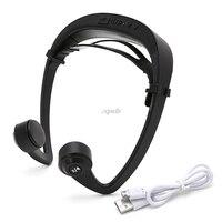 V9 Ear Hook Bone Conduction Bluetooth 4 2 Sports Headphone Headset With Mic Adjustable Headband For