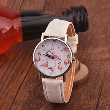 Brand New Wristwatch for Women Ladies Lovely Elegant Swan Pattern Analog Quartz Watch Female Casual Leather Clock Gift