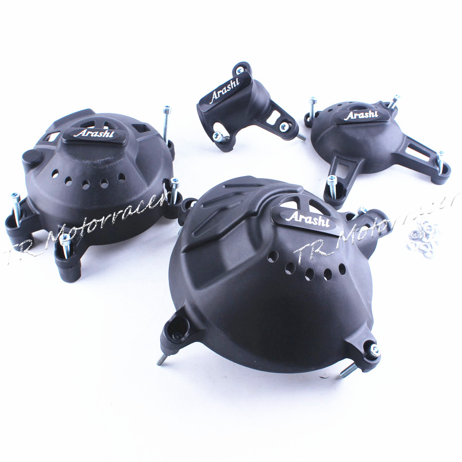 Для YAMAHA МТ-09 2014 Двигатель статора кривошипно Чехол черный замена MT09 14 углеродного волокна + ABS пластик