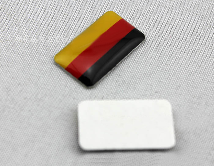 New German Flag Pattern Leaf Shape Stickers Decal Car Window Door With Box Hot Selling car styling for bmw benz audi vw